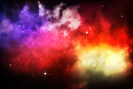Galaxy space background with stars