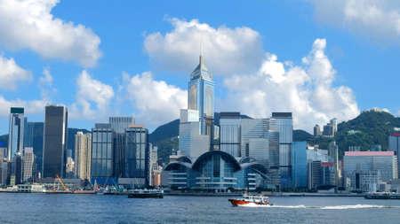 Orizzonte di Hong Kong e Victoria Harbour.