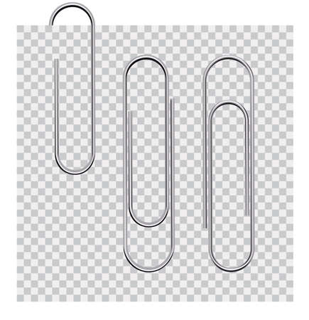 Set of paperclips on background