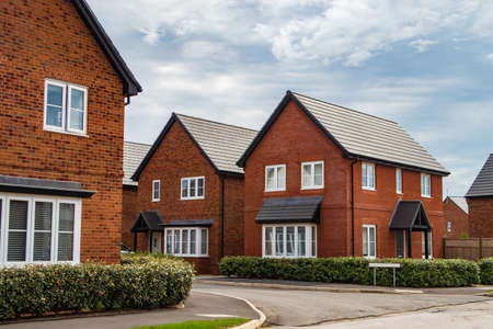 Detached houses in Manchester, United Kingdom Stock fotó