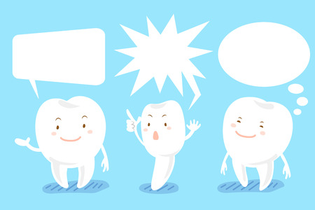 comunicacion oral: cute cartoon white tooth with speech bubble