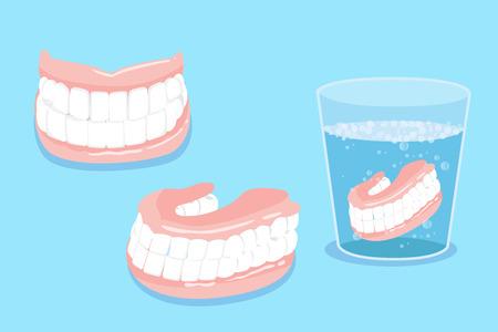 cute cartoon fałszywe ząb za zdrowe pojęcie Ilustracje wektorowe