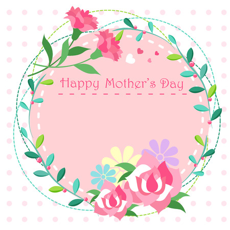 Cute cartoon happy mother day for your concept.