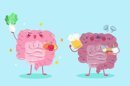 cute jelita kreskówek z koncepcji zdrowia na zielonym tle Ilustracje wektorowe