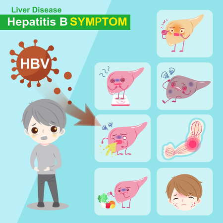 hbv: Liver and hepatitis b symptom with healthy concept