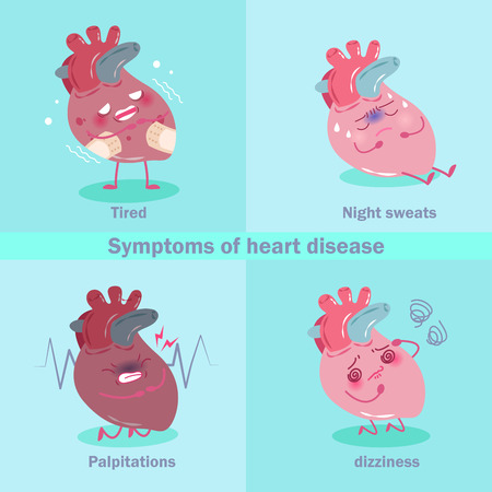 Heart with health concept on a green background Illustration