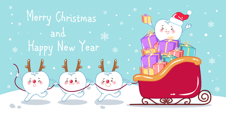 Tooth with Merry Christmas.