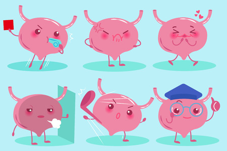 Cute cartoon bladder.