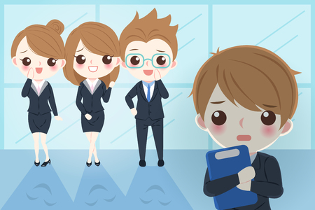 Businessman with bullying concept in the office