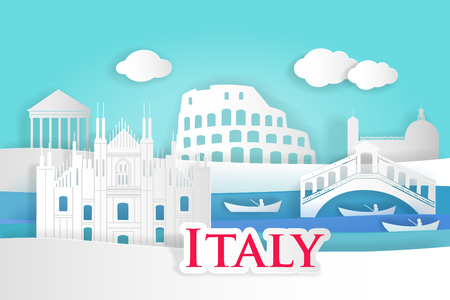 Cartoon Italy city for your travel concept Иллюстрация
