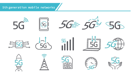 5G mobile networks concept icon - Simple Line Series