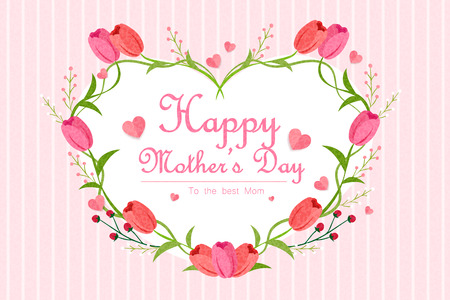 cute cartoon happy mothers day for your concept