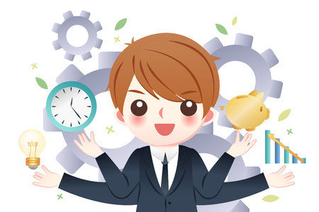 businesman good at management and earn money