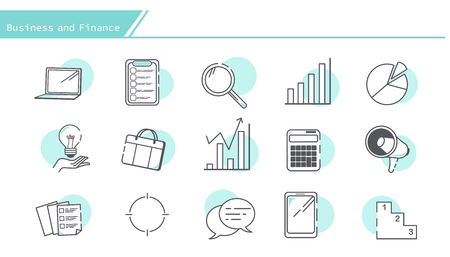 set of business finance and accounting icons