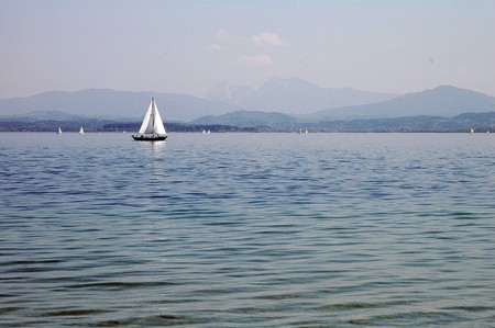 Sail boat on the Chiemsee