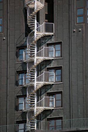 External staircase as fire escape Stock Photo