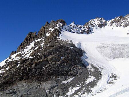 moraine with glacier