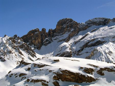 wintersport: In the high mountains of France Stock Photo