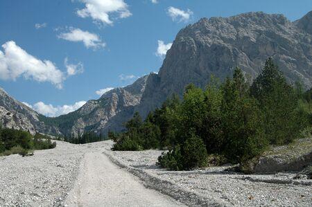 valley between watzmann and hochkalter near ramsaugermany