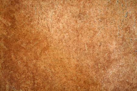tile on floor, terracotta ceramic, as background Stock Photo