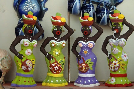 colorful dolls with cigar, an cuban souvenir photo