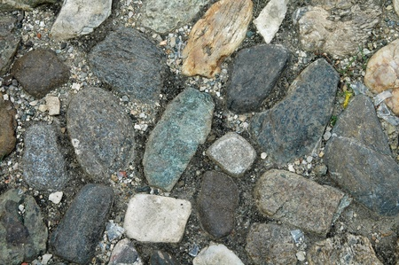 colorful natural stone pavement photo