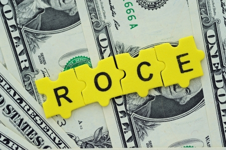 empleadas: Las razones financieras, ROCE = Retorno sobre el capital empleado Foto de archivo