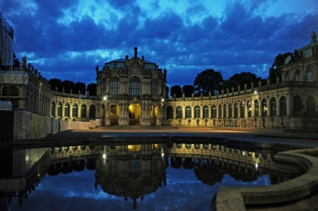 Zwinger, Dresden, Germany, by night Stock Photo - 14820573