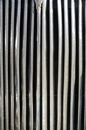 radiator grille as background Stock Photo