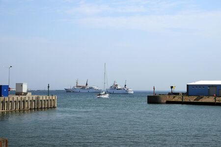 helgoland: Harbour of Helgoland, a german island in the North Sea