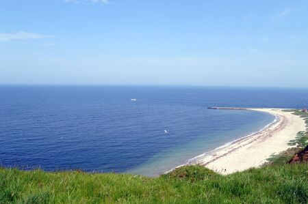 Coast of Helgoland, a german island in the North Sea Stock Photo