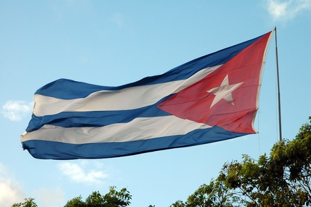 Banner of Cuba in Santa in Clara photo