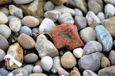 colorful pebbles on a beach