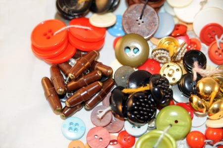 pile of colorful buttons Stock Photo