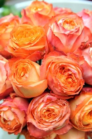 wreath of oranges roses