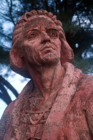 colonizer: Statue of Christopher Columbus in Baracoa, Cuba