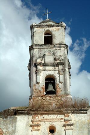 Shabby belltower of a church in Trinidad, Cuba Stock Photo