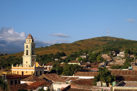 View of Trinidad, Cuba with church
