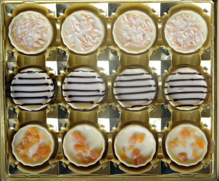 variation of delicious chocolate candy Stock Photo