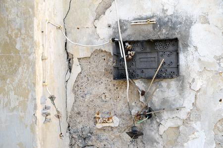 demolished breaker box in a ruin