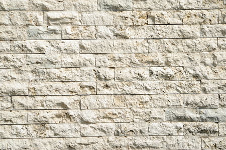 wall of beige natural stone