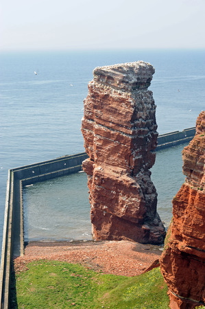 german north sea region: Lange Anna, a place of interest, on the german island Helgoland