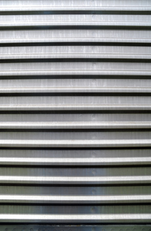 a plate of corrugated metal Stock Photo