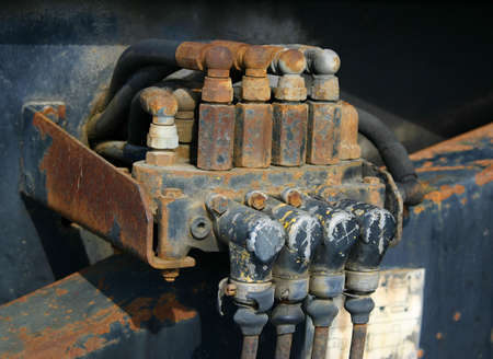 conjoin: Old Engine Stock Photo