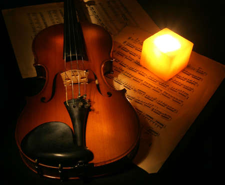 Violin and Candle