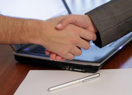 Handshake over keyoard