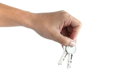 Delivering keys Stock Photo - 2115440