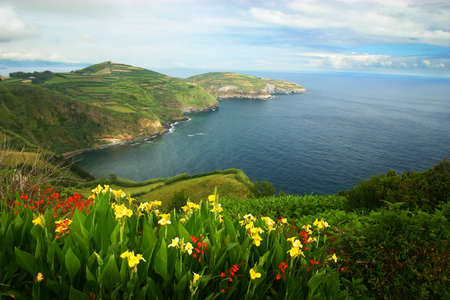 A view of San Miguel island in Azores
