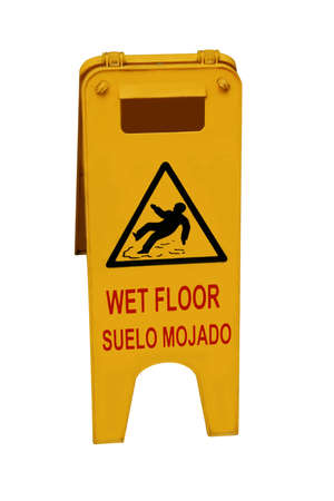 mopped: Caution wet floor
