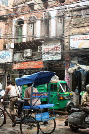 Crowded street in Old Delhi  India